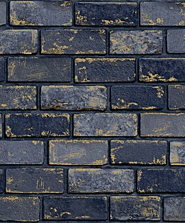 Arthouse Metallic Brick Wallpaper