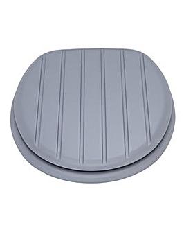 Shaker Style Toilet Seat - Grey