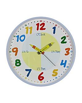 Hometime Children's Teach the Time Clock