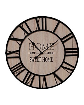 Hometime Metal and Wood 50cm Clock