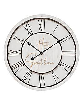 Home Sweet Home Wood and Metal Clock