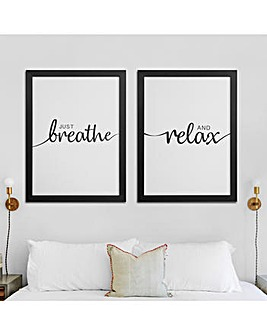 Breathe and Relax Framed Canvas Prints