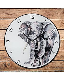 Meg Hawkins 30cm Elephant Wall Clock