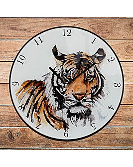 Meg Hawkins 30cm Tiger Wall Clock