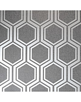 Arthouse Luxe Hexagon Wallpaper