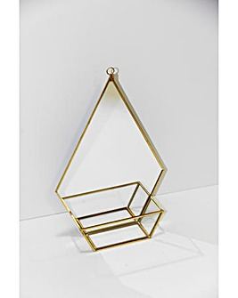 Arthouse Mirrored Metal Plant Holder