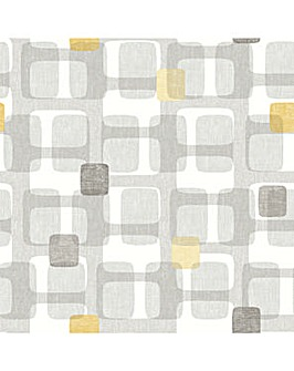 Arthouse Retro Block Ochre Wallpaper