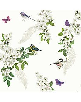Arthouse Mitzu White Wallpaper