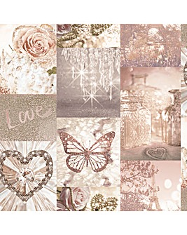 Arthouse Love Paris Blush Wallpaper