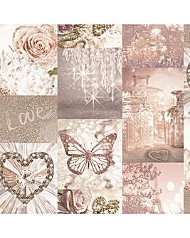 Arthouse Love Paris Blush Wallpaper