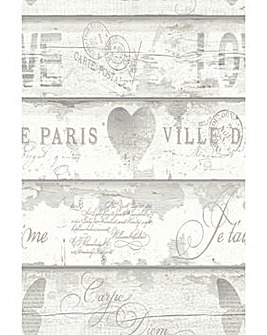 Arthouse Shabby Chic Wd Ntrl Wallpaper
