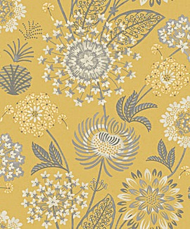 Arthouse Vintage Bloom Yellow Wallpaper