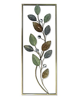 Arthouse Leaf Deco Metal Wall Art