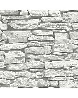Arthouse Moroccan Wall White Wallpaper