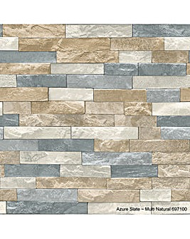 Arthouse Azure Slate Ntrl Wallpaper