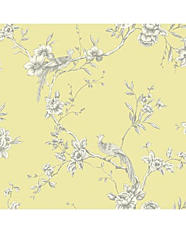 Arthouse Chinoise Yellow Wallpaper