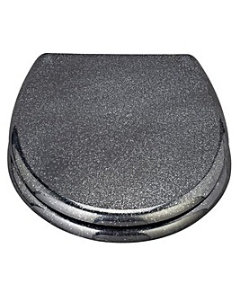 Black Glitter Slow Close Toilet Seat
