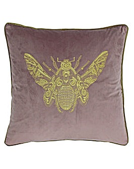 Embroidered Bee Poly Cushion