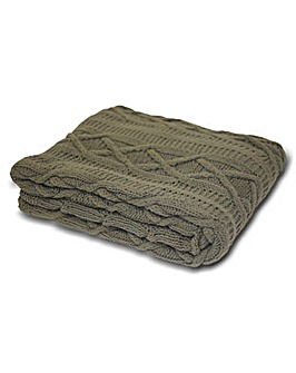Aran Knitted Throw