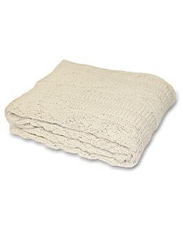 Aran Knitted Throw