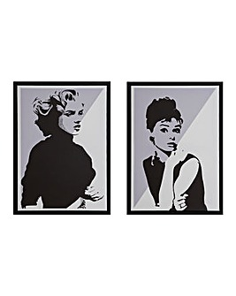 Audrey and Marilyn Canvas Prints