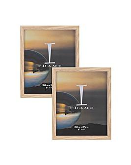 """8"""" x 10"""" iFrame Set of 2 Frames Oak"""