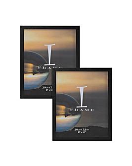 """8"""" x 10"""" iFrame Set of 2 Frames Black"""