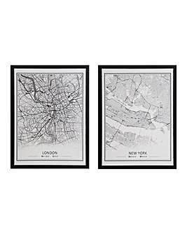 London New York Canvas Prints