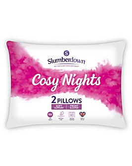 Slumberdown Cosy Night Front Pillow Pair