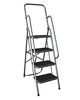Folding 4 Step Ladder with Handrail