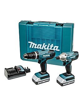 Makita 18v Combi Drill & Driver Kit