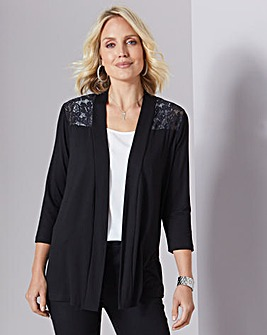 Julipa Jersey Lace Trim Cardigan
