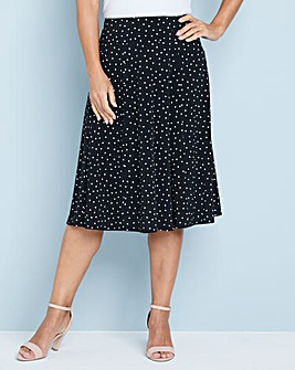 Julipa Print Fit and Flare Skirt 25inch