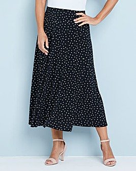 Julipa Print Fit and Flare Skirt 32inch