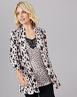 Julipa Mock 2 Piece Top with Lace Insert