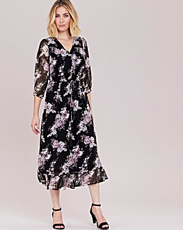 Julipa Print Dress with Frill Hem