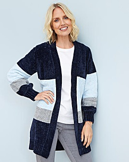 Julipa Chenille Colour Block Cardigan
