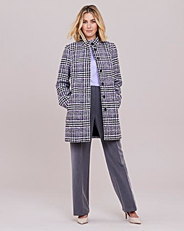 Julipa Check Funnel Neck Coat