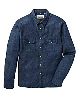 Jacamo L/S Denim Worker Shirt Long
