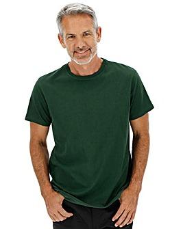 Green Crew-Neck T-shirt Long