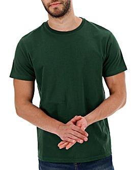 Green Crew-Neck T-shirt Long