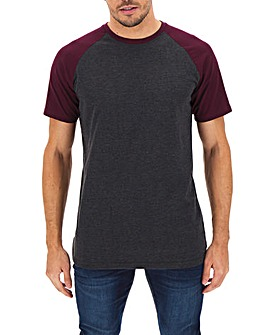 Mulberry/Charcoal Raglan T-Shirt Long