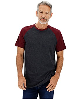 Mulberry/Charcoal Raglan T-Shirt