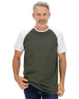 Khaki/White Raglan T-Shirt
