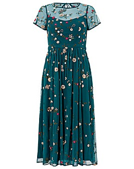 Monsoon Binita Embellished Midi Dress
