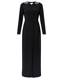 Monsoon Taylor Trim Shoulder Dress