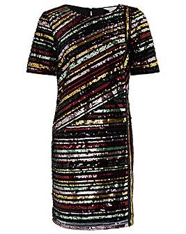 Monsoon Rainey Sequin Stripe Tunic Dress