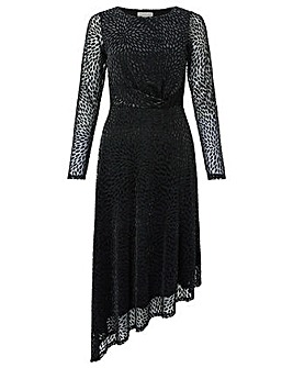 Monsoon Ava Devore Print Midi Dress