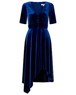 Monsoon Florence Velvet Tea Dress