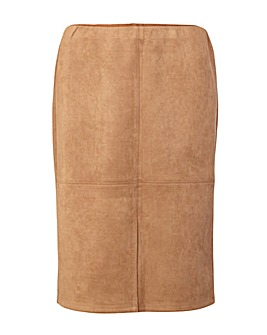 Izabel London Curve Suedette Skirt